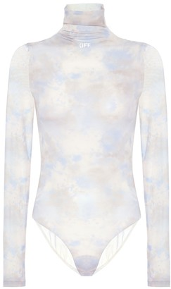 Off-White Printed technical-jersey bodysuit