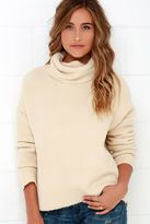J.o.a. Would You Be Mine? Beige Turtleneck Sweater