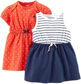 Carter's 2 Pack Dresses (Baby)-Red-6 Months