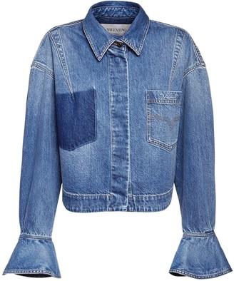 Valentino Signature Logo Cotton Denim Jacket