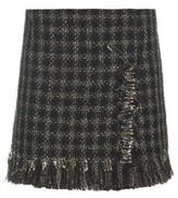 Sonia Rykiel Raw-edge lamé-tweed mini skirt