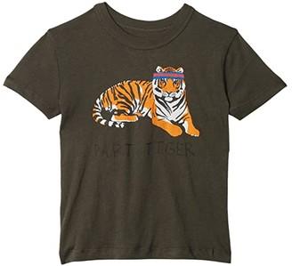 Chaser Extra Soft Cotton Traffic Jam Short Sleeve Tee (Toddler/Little Kids) (Safari) Boy's T Shirt