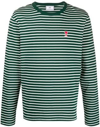 Ami striped long sleeve T-shirt