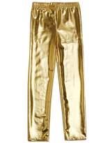 Arshiner Little Girls' Metallic Color Shiny Stretch Leggings