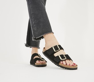 Birkenstock Arizona Two Strap Sandals Vl Black Suede Exclusive