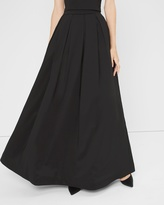 White House Black Market Pleated Taffeta Ball Skirt