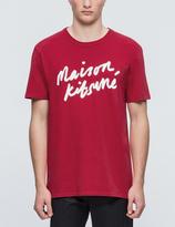 MAISON KITSUNÉ Handwriting S/S T-Shirt