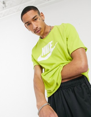 Nike Futura washed t-shirt in lime