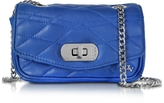 Zadig & Voltaire Cobalt Blue Quilted Leather Skinny Love Clutch