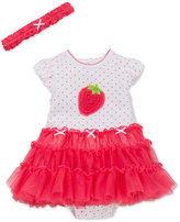 Little Me 2-Pc. Headband & Strawberry Popover Dress Set, Baby Girls (0-24 months)