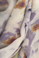 Suno Printed Wool Scarf in Sky