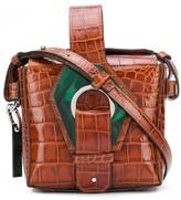 Ganni Embossed Crocodile Effect Crossbody Bag
