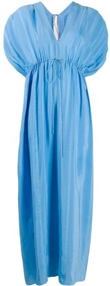 Stella McCartney deep v-neck tied maxi dress