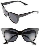 A. J. Morgan Women's A.j. Morgan 'Flamboyant' 55Mm Sunglasses - Black