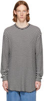 Lad Musician White and Black Striped Thermal Pullover