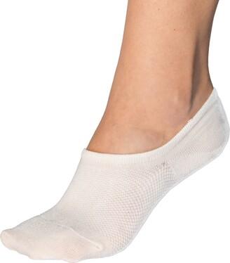 Bambu Bam&bu Women's Premium Bamboo No Show Socks - 4 pairs - Non-Slip Size 3-5