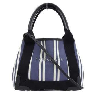 Balenciaga Navy cabas Blue Cloth Handbags