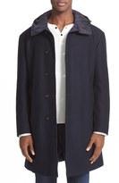 Moncler Men's Tilleul Reversible Hooded Down Overcoat