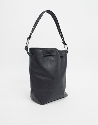 French Connection Faux Leather Slouchy Bucket Bag