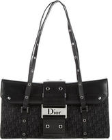 Christian Dior Leather-Accented Diorissimo Shoulder Bag