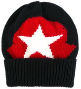 Moncler star motif knitted beanie - kids - Wool - 40 cm