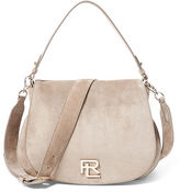 Ralph Lauren Suede RL Messenger Bag