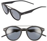 Polaroid Women's 50Mm Polarized Retro Sunglasses - Matte Black