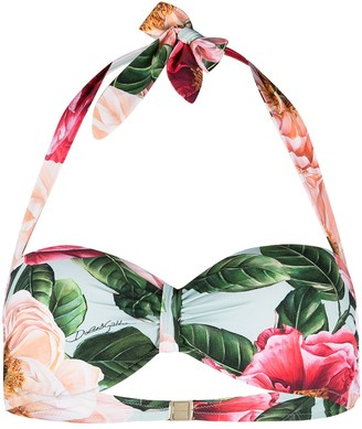 Dolce & Gabbana Floral Bandeau Bikini Top