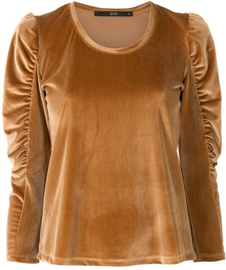 Eva Ruched Sleeve Top