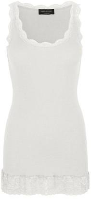 Rosemunde Organic Cotton Lace Top Ivory - XS