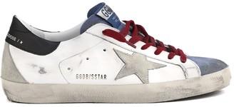 Golden Goose White & Multicolor Superstar Vintage Leather Sneaker