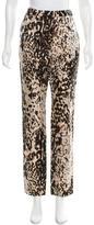 Lanvin Leopard Pattern Skinny Pants w/ Tags