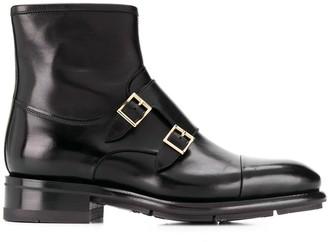 Santoni Moccasin monk strap boots