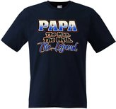 Fresh Tees® Brand- Papa The Man The Myth The Legend T-shirt Father's Day Shirt (3X-Large, )