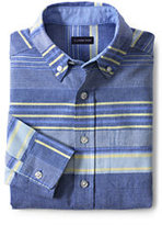 Classic Little Kids Washed Oxford Shirt-Cobalt Oxford Stripe