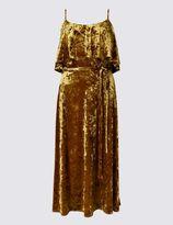 Marks and Spencer Fit & Flare Velvet Dress