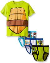 Nickelodeon Little Boys' Ninja Turtles 3pk Underwear and T-Shirt Set