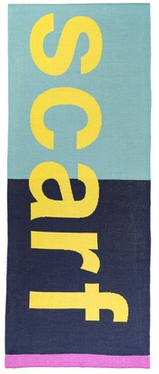 Verloop Typography Scarf Lilac/Navy