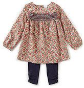 Edgehill Collection Little Girls 2T-4T Liberty of London Printed Top & Pants Set