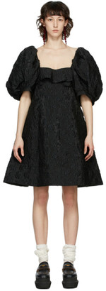 Simone Rocha Black Floral Bustier Dress