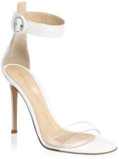 Gianvito Rossi Women's Transparent Toe Ankle Strap Sandal