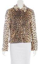 By Malene Birger Faux Fur Leopard Jacket
