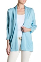In Cashmere Open Front Silk Blend Cardigan