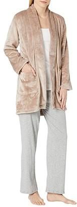 N by Natori 34 Cashmere Fleece Topper (Sahara Beige) Women's Clothing