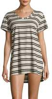 J Valdi Striped Split-Hem Tunic