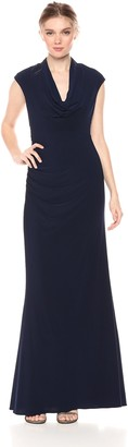 Adrianna Papell Women's Draped Jersey Long Party Dress