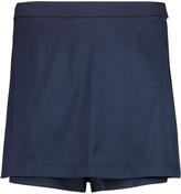 Alexander Wang Layered stretch-silk twill mini skirt