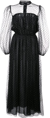 ADAM by Adam Lippes sheer polka-dot dress