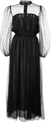 Adam Lippes Sheer Polka-Dot Dress