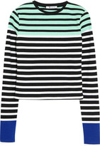 Alexander Wang Striped stretch-cotton top